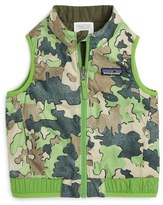 Patagonia Infant Boy's 'Puff-Ball' Water Resistant Reversible Vest