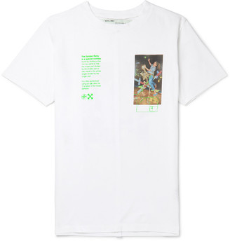 Off-White Off White Slim-Fit Printed Cotton-Jersey T-Shirt