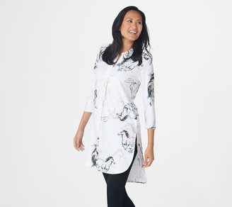 Women With Control Attitudes by Renee Regular 3/4-Sleeve Printed Duster