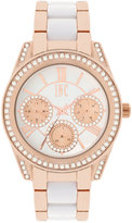 INC International Concepts Women's Rose Gold-Tone and White Bracelet Watch 40mm IN001RGW, Only at Macy's
