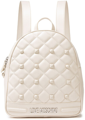 Love Moschino Studded Quilted Faux Leather Backpack