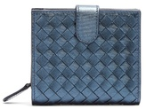 Bottega Veneta Intrecciato foldover leather wallet