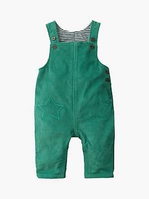Boden Mini Baby Corduroy Dungarees, Green