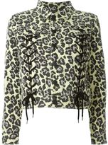 Sibling leopard print jacket - women - Cotton - S