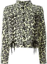 Sibling leopard print jacket