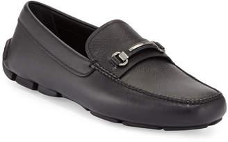 Prada Saffiano Leather Driver, Black