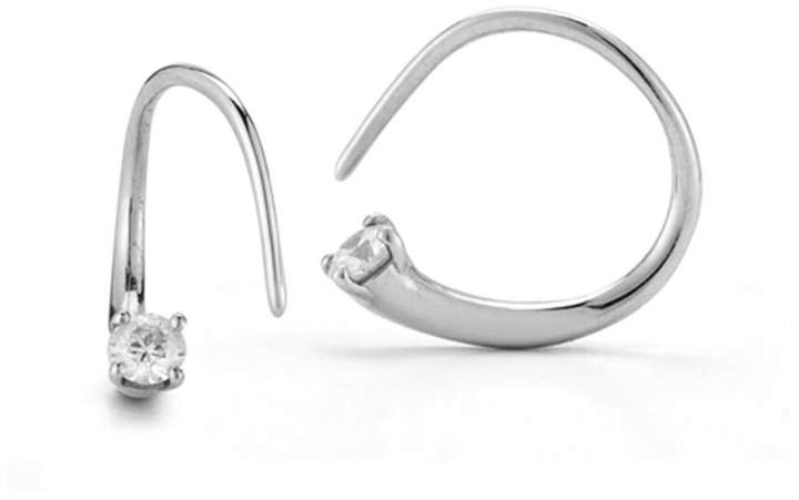 ara Jade Trau Mini Hoop Earrings - White Gold