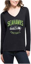 '47 Women's Seattle Seahawks Splitter Arch Long-Sleeve T-Shirt