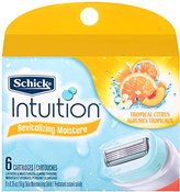 Schick Intuition Revitalizing Moisture Razor Blade Refills for Women, 6 Count