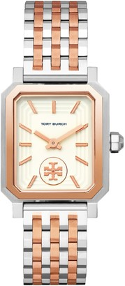 Tory Burch Robinson Watch, Steel/Rose-Gold/Ivory, 27 X 29 MM