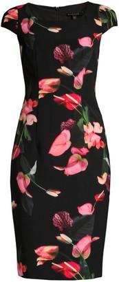 Black Halo Amari Floral Sheath Dress