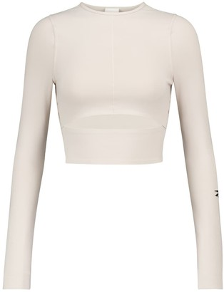 Reebok x Victoria Beckham Cutout technical-jersey crop top