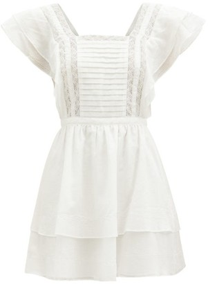 Sir - Caprice Ruffled Cotton-blend Mini Dress - Ivory