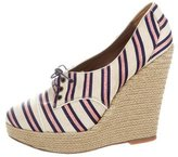 Tabitha Simmons Canvas Platform Wedges