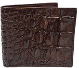 Authentic M Crocodile Skin Men's Bifold Backbone Leather Wallet