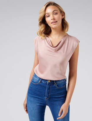 Ever New Angelina Cowl Neck Blouse