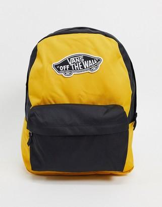 Vans Realm backpack in mango mojito & black