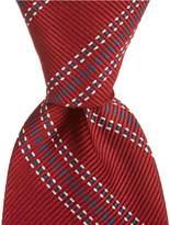 Daniel Cremieux Skip Stripe Traditional Silk Tie