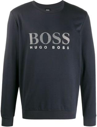 BOSS logo-print sweatshirt