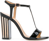 Marc Ellis - metallic detail T-strap sandals - women - Leather/Patent Leather - 38