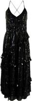 Temperley London sequin V-neck dress