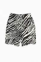 Urban Outfitters Zebra Rayon Baggy Short