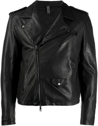 Tagliatore slim-fit biker jacket