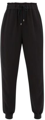 Vaara Clemmie Crepe Track Pants - Womens - Black