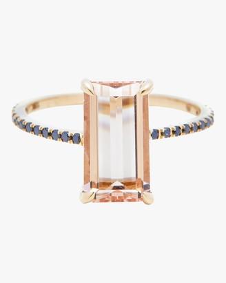 Yi Collection Morganite And Black Diamond Ring