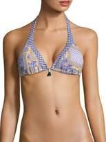 OndadeMar Zinnia Adjustable Halter Bikini Top