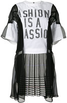 Sacai Fashion is a Passion combination dress - women - Cotton/Polyester - 1