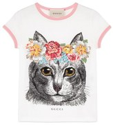 Gucci Cat Graphic Tee (Little Girls & Big Girls)
