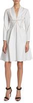 Alaia Sculptural Seamed Poplin Dress