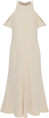 Elizabeth and James Cold-shoulder Crepe De Chine Midi Dress