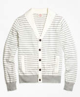 Brooks Brothers Supima® Cotton Stripe Cardigan