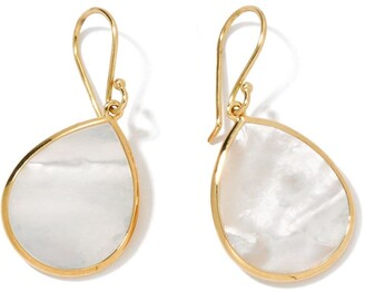 Ippolita 18kt yellow gold small Polished Rock Candy Single Stone Teardrop mother-of-pearl earrings