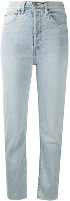 RE/DONE Cropped Lightwash Jeans