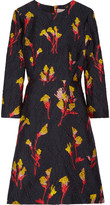 Jason Wu Floral-jacquard Mini Dress - Midnight blue