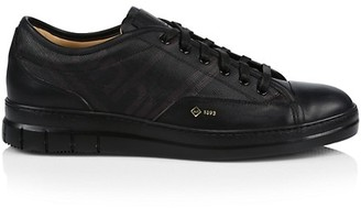 Dunhill Canvas & Leather Low-Top Sneakers