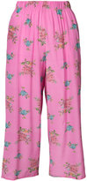 Natasha Zinko floral print cropped trousers - women - Silk - 34