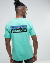 Patagonia P-6 Back Logo T-shirt Regular Fit In Galah Green