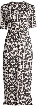 Rebecca Taylor Kaleidoscope Twist Jersey Dress