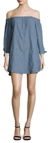 Lucca Couture Bowtie Sleeves Off Shoulder Shift Dress