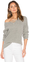 Central Park West Leeds Lace Up Sweater