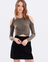 Miss Selfridge Suede A-Line Mini Skirt