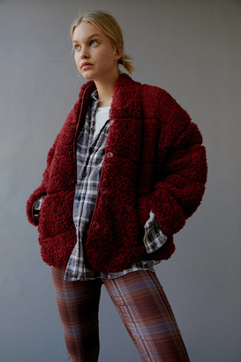 Urban Outfitters Eden Oversized Teddy Jacket