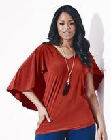 Grazia Floaty Sleeve Jersey Top With Cape Back
