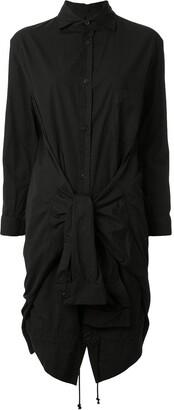Yohji Yamamoto Short Tied-Sleeves Shirt Dress