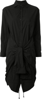 Yohji Yamamoto short tied-sleeves shirt dress