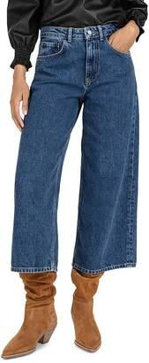 BA&SH Volt Cropped Wide-Leg Jeans
